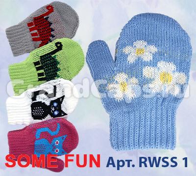 Фото товара Детские варежки для мальчика или девочки от производителя Польские шапки
